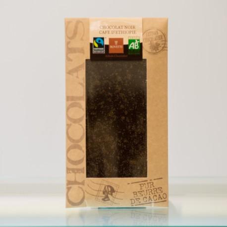 Tablette Chocolat Noir Café